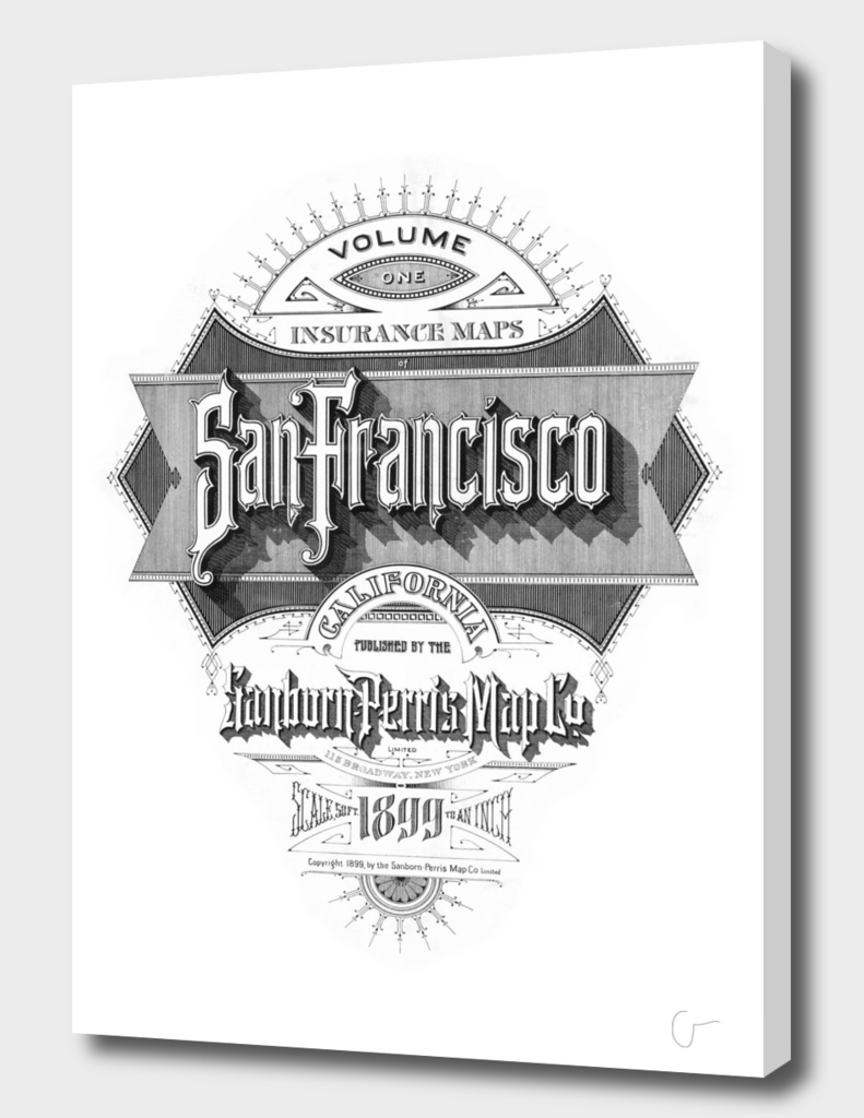 San Francisco Fire Insurance Map 1899