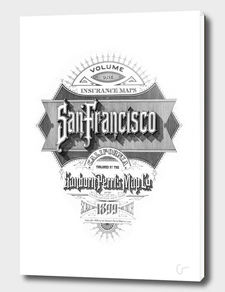 San Francisco Fire Insurance Map 1899