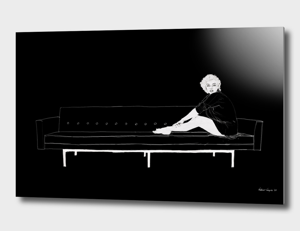 Marilyn on the sofa / Black version