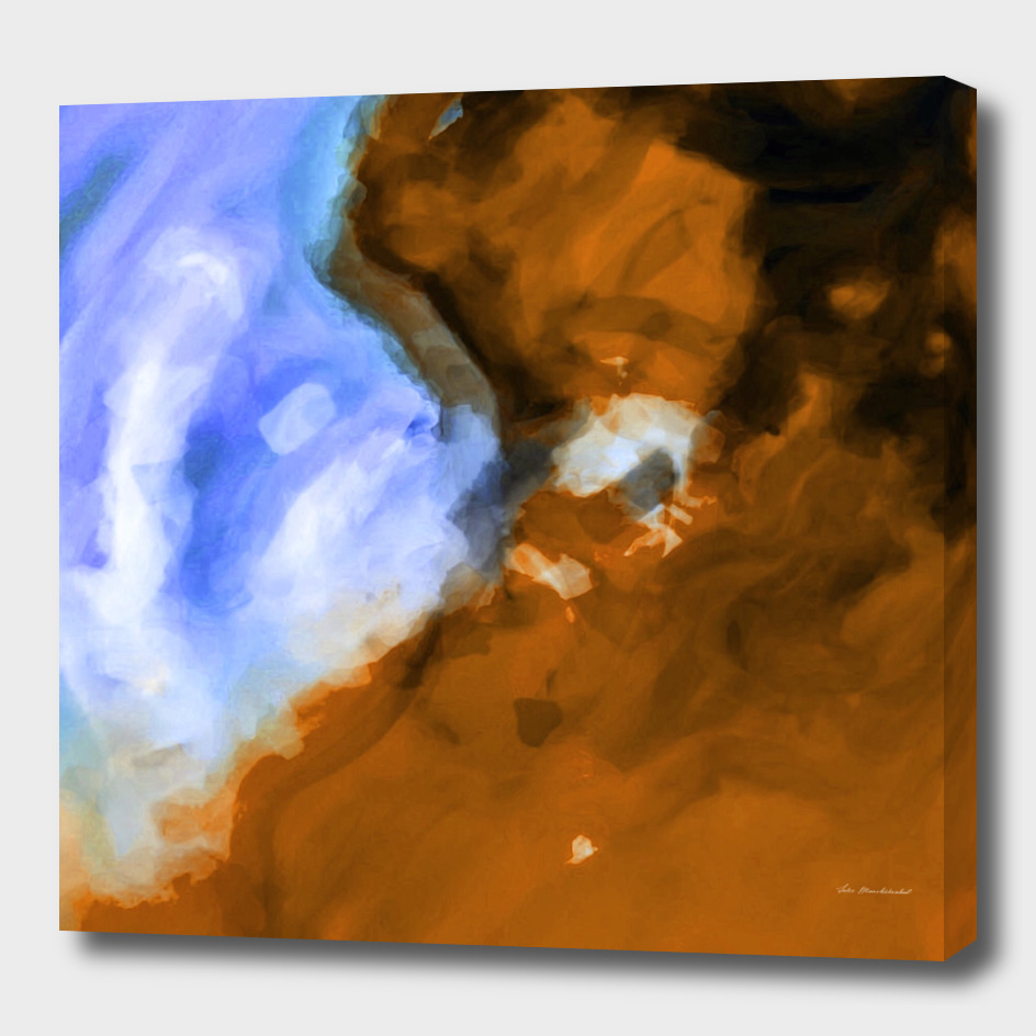 blue and brown painting texture abstract background