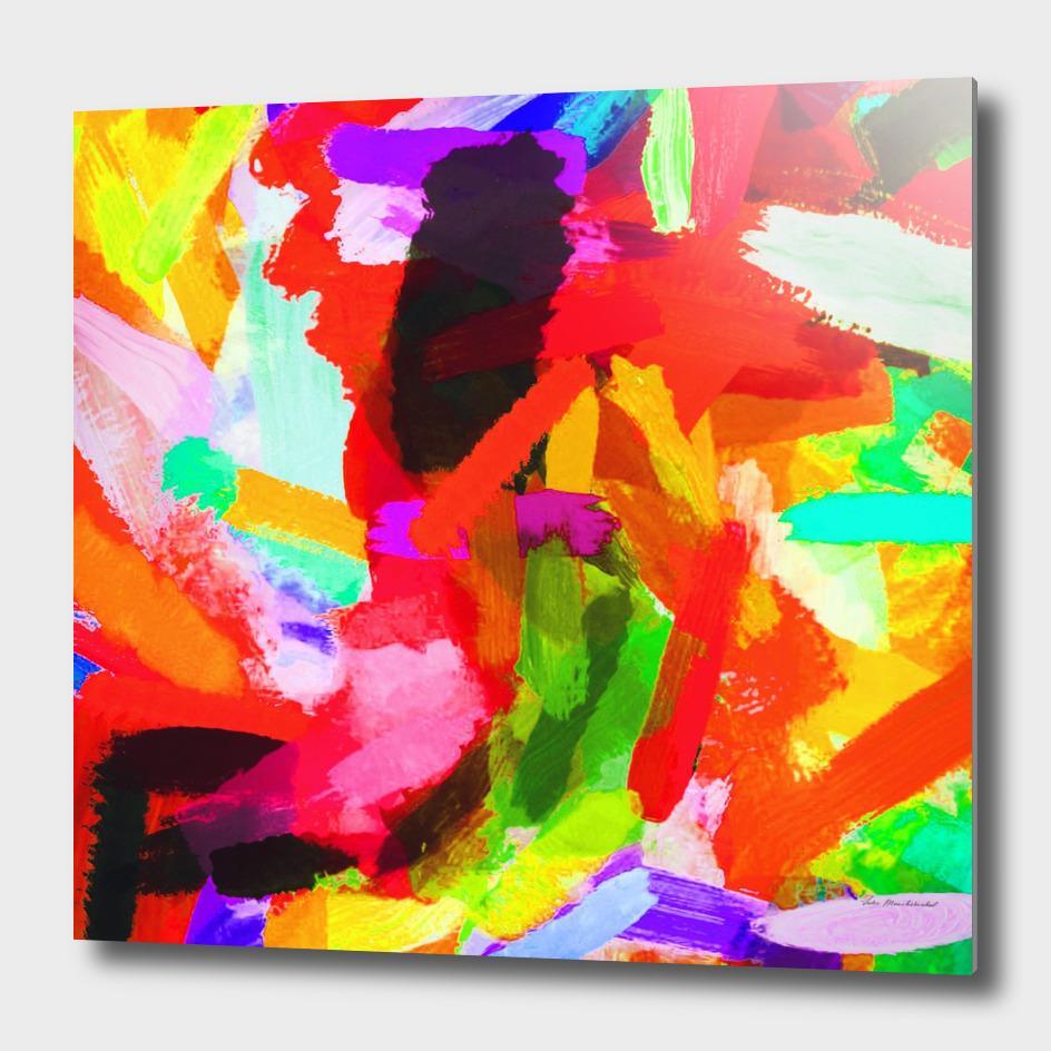 red orange blue green purple painting texture