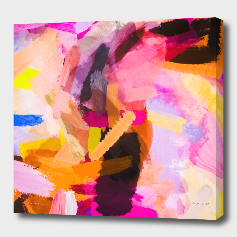 pink purple yellow brown painting texture abstract
