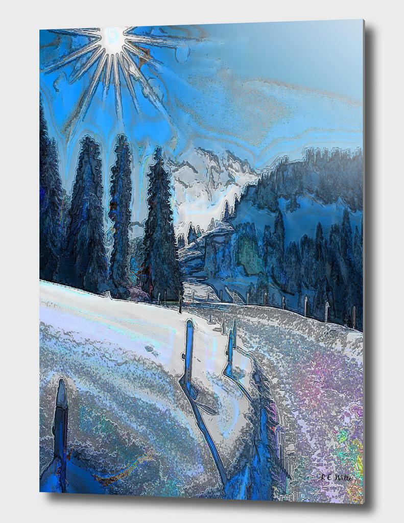 Mountain Morning Sunburst