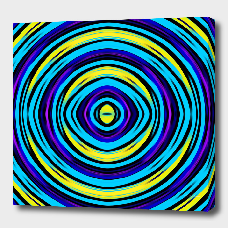 psychedelic geometric circle pattern drawing