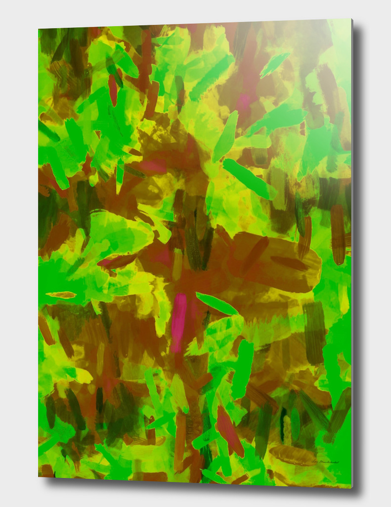 watercolor camouflage painting abstract in green brown