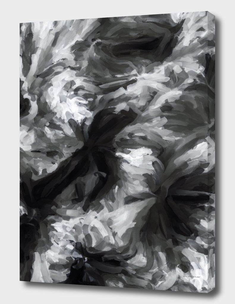 black and white watercolor camouflage painting