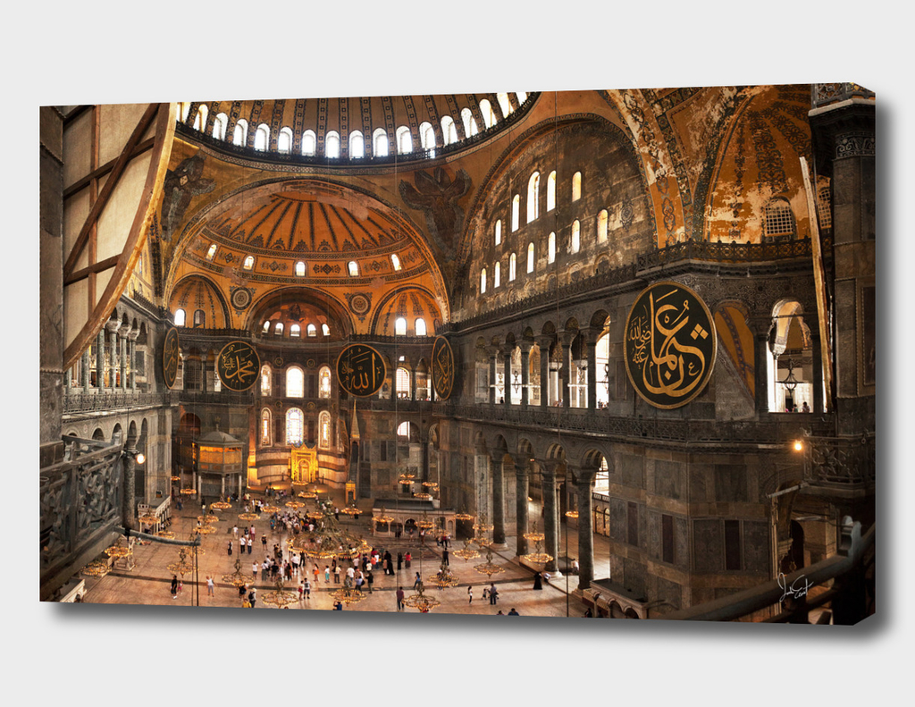 Inside the Hagia Sofia in Istanbul