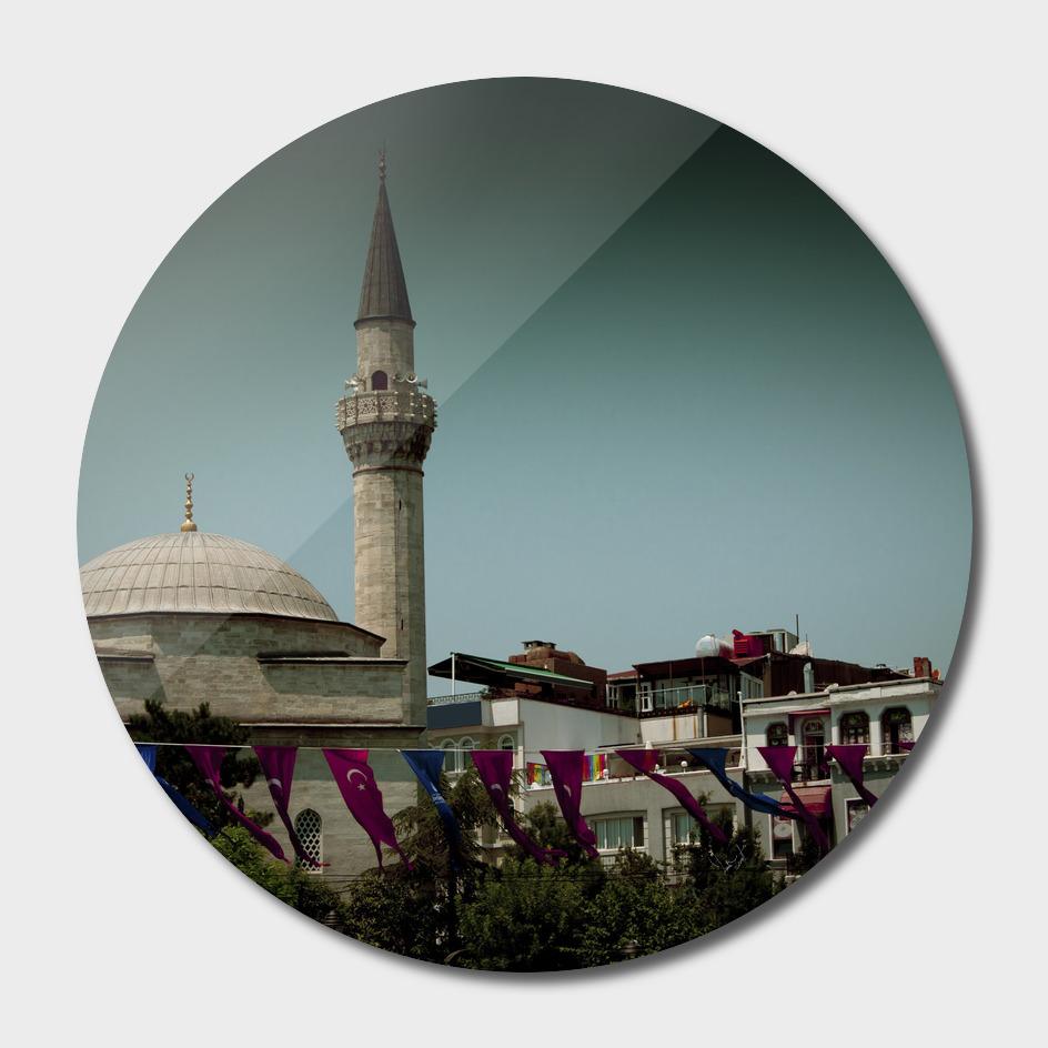 Outside the Hagia Sofia in Istanbul
