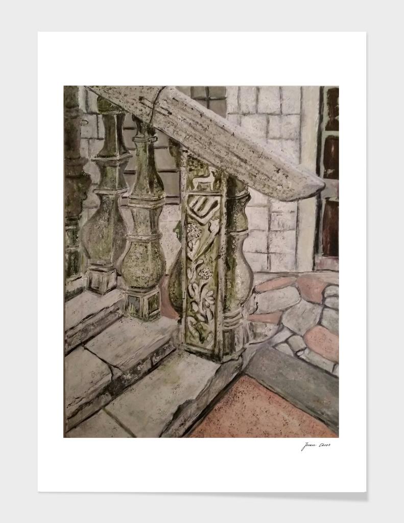 Bizanti fence stairs