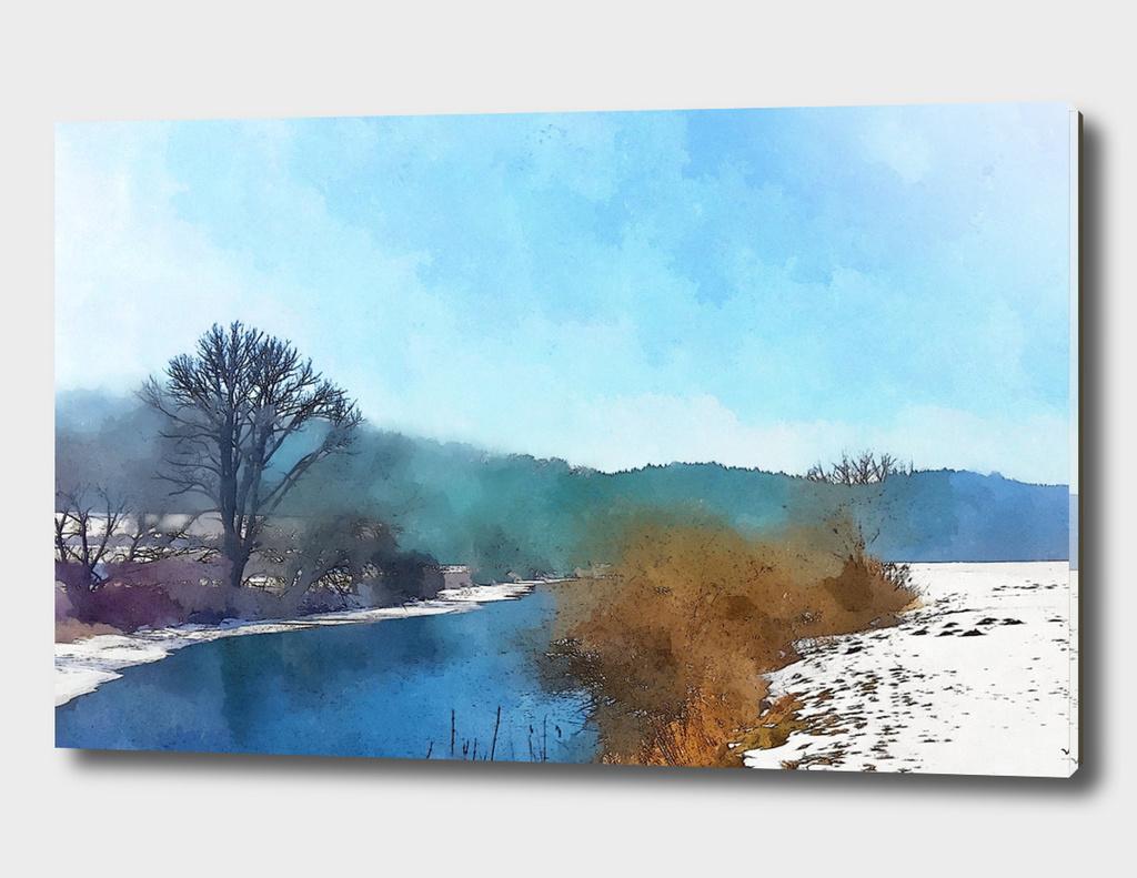 winter at the Danube