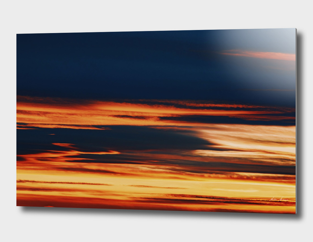 Beautiful Orange Summer Sunset Sky