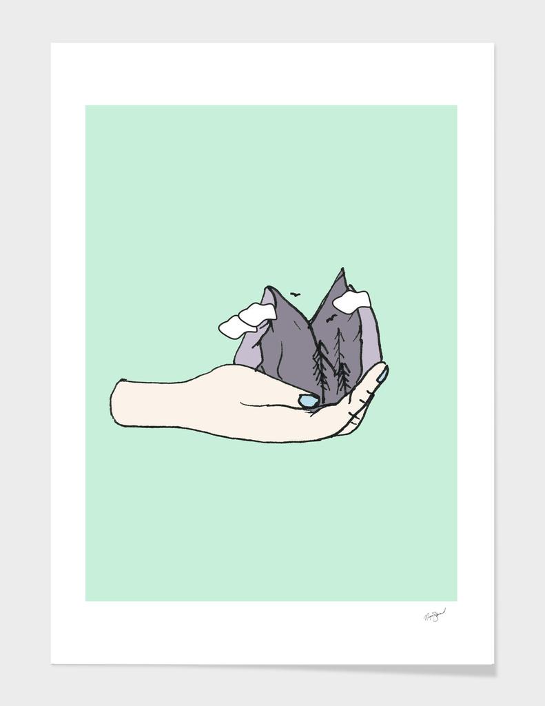 mountain hands