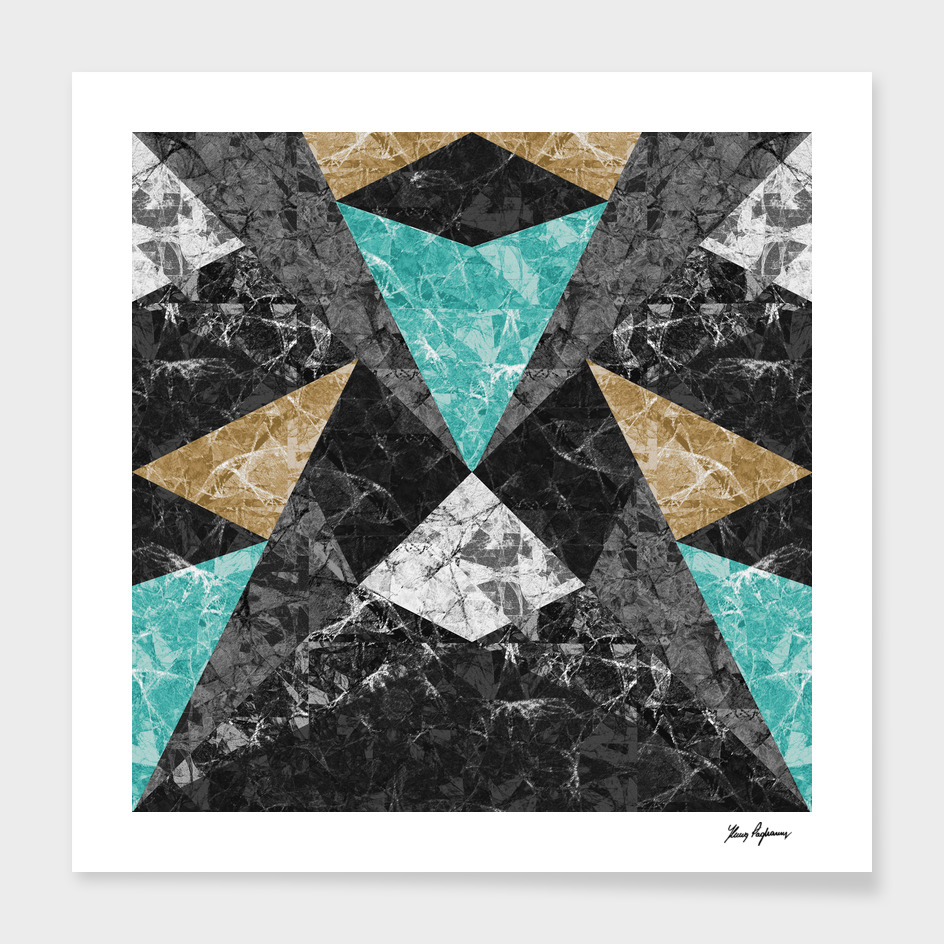 Marble Geometric Background G430