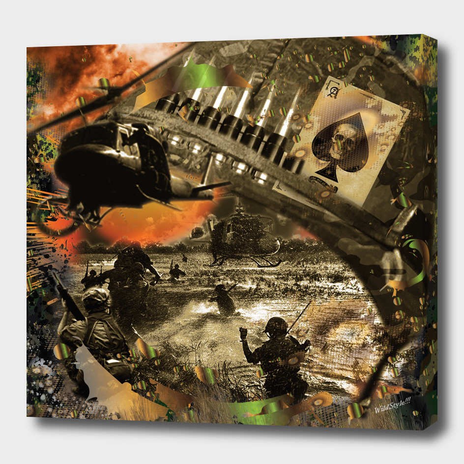 Vietnam War Collage 3D