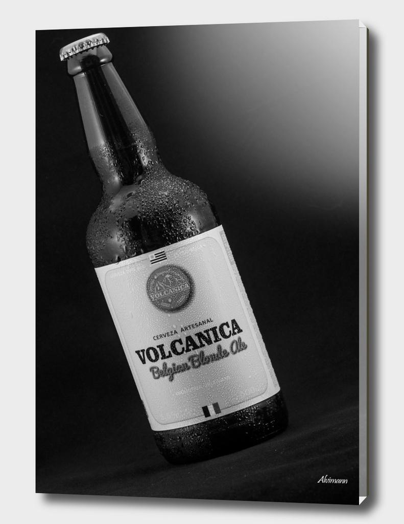 Volcanica Belgian Blonde Ale in B&W