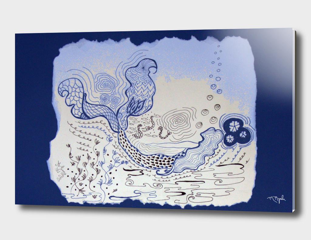 Zentangle Mermaid Swimmer