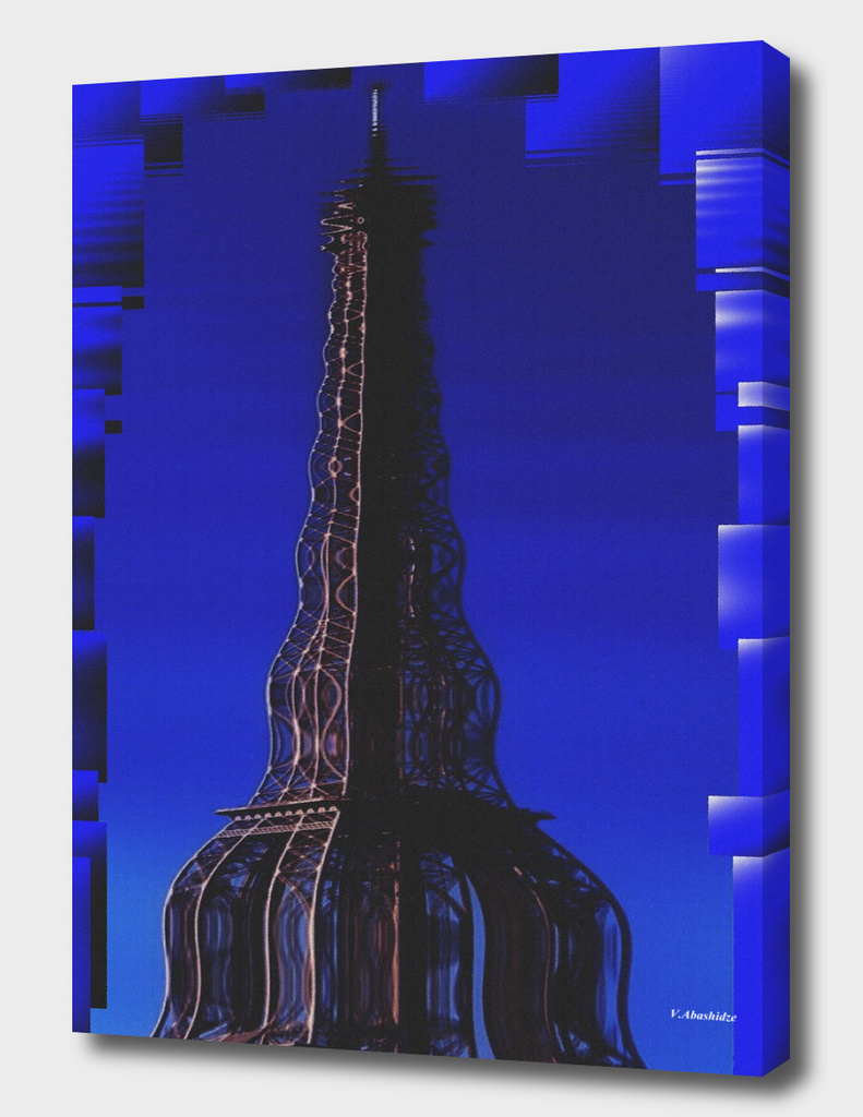 eiffel tower and optimistic colors
