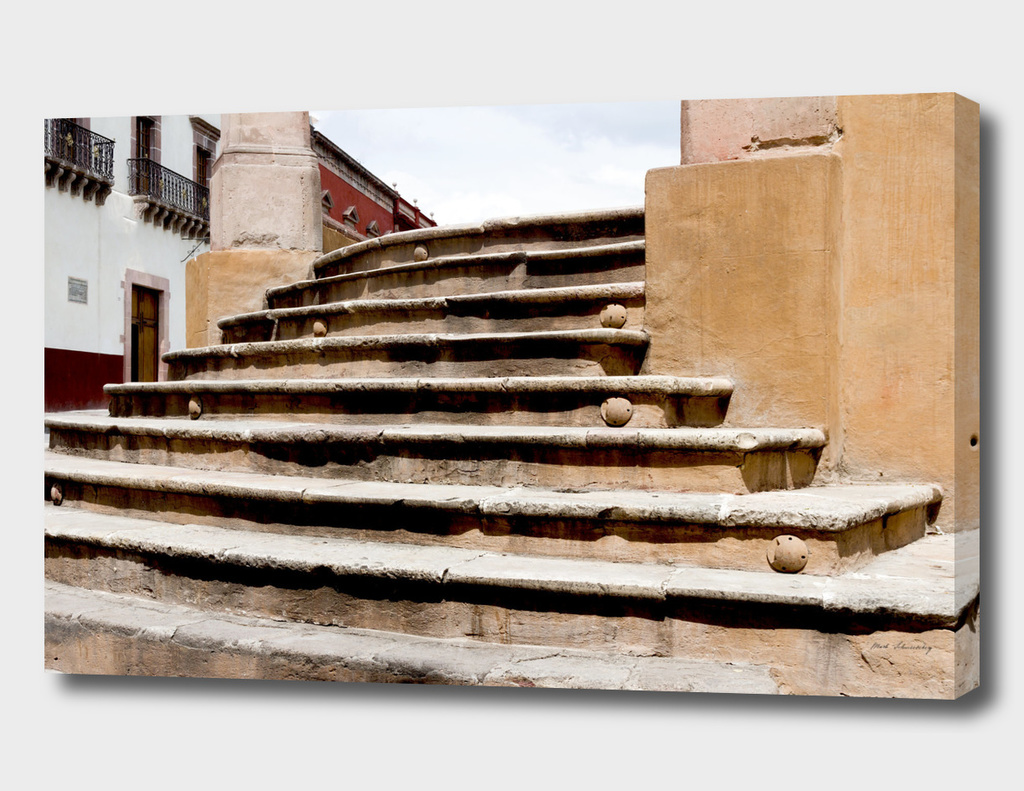 Steps to the Jardin San Miguel de Allende