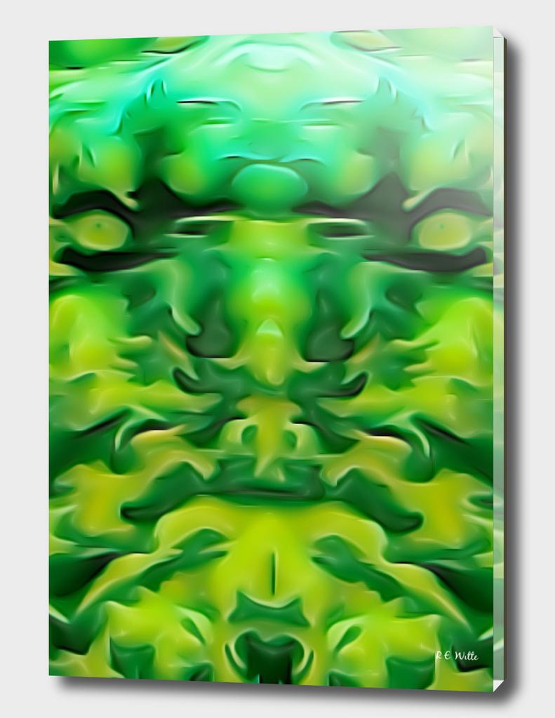 Green Demon Face