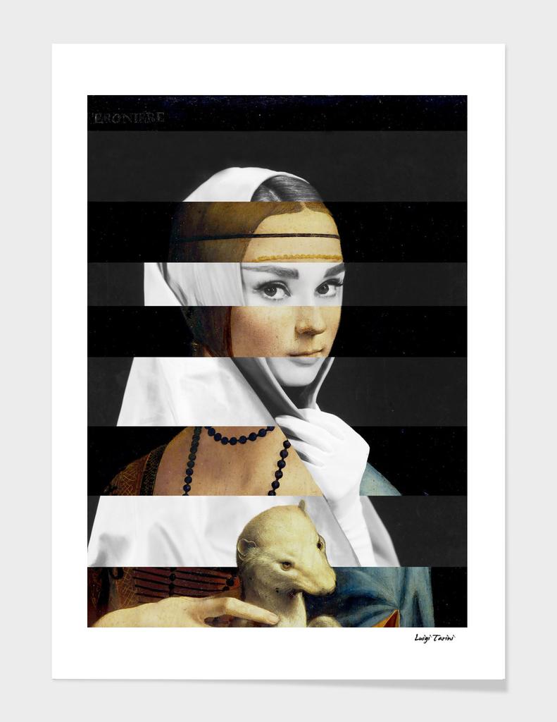 Leonardo's Lady with an Hermine & Audrey Hepburn