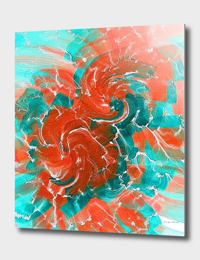 Abstract Flowers in Orange