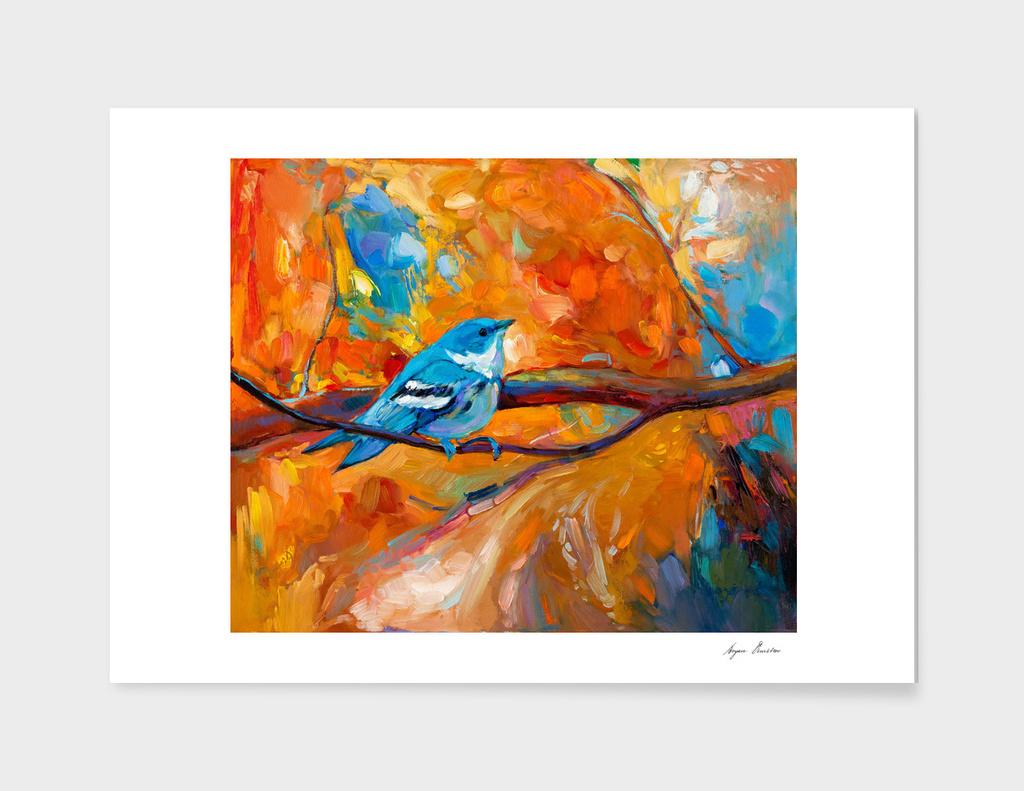 Blue Cerulean Warbler bird