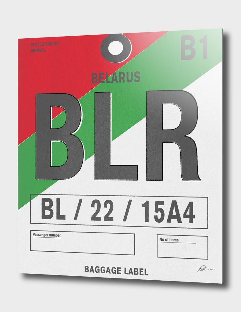 Belarus Vintage Luggage Tag