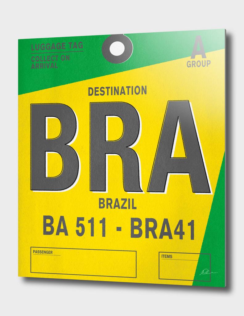 Brazil Vintage Luggage Tag