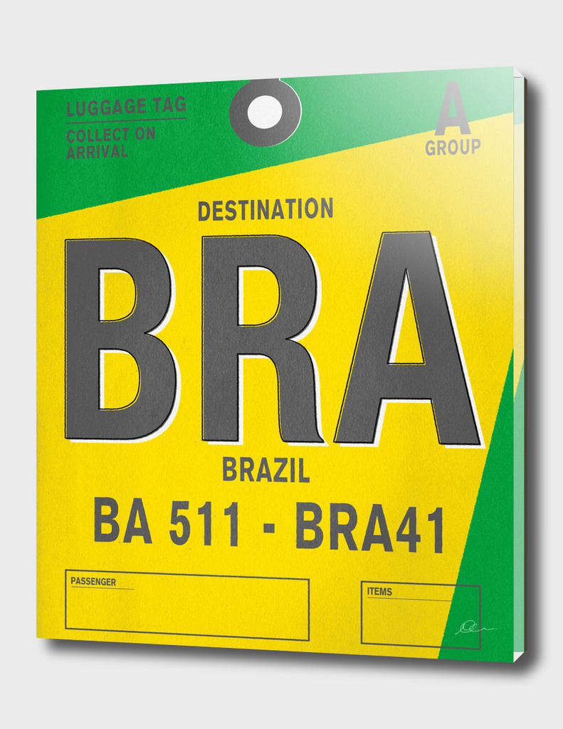 Brazil Vintage Luggage Tag