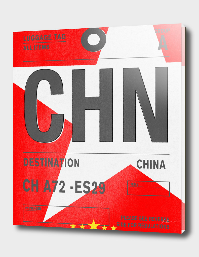 China Vintage Luggage Tag Print