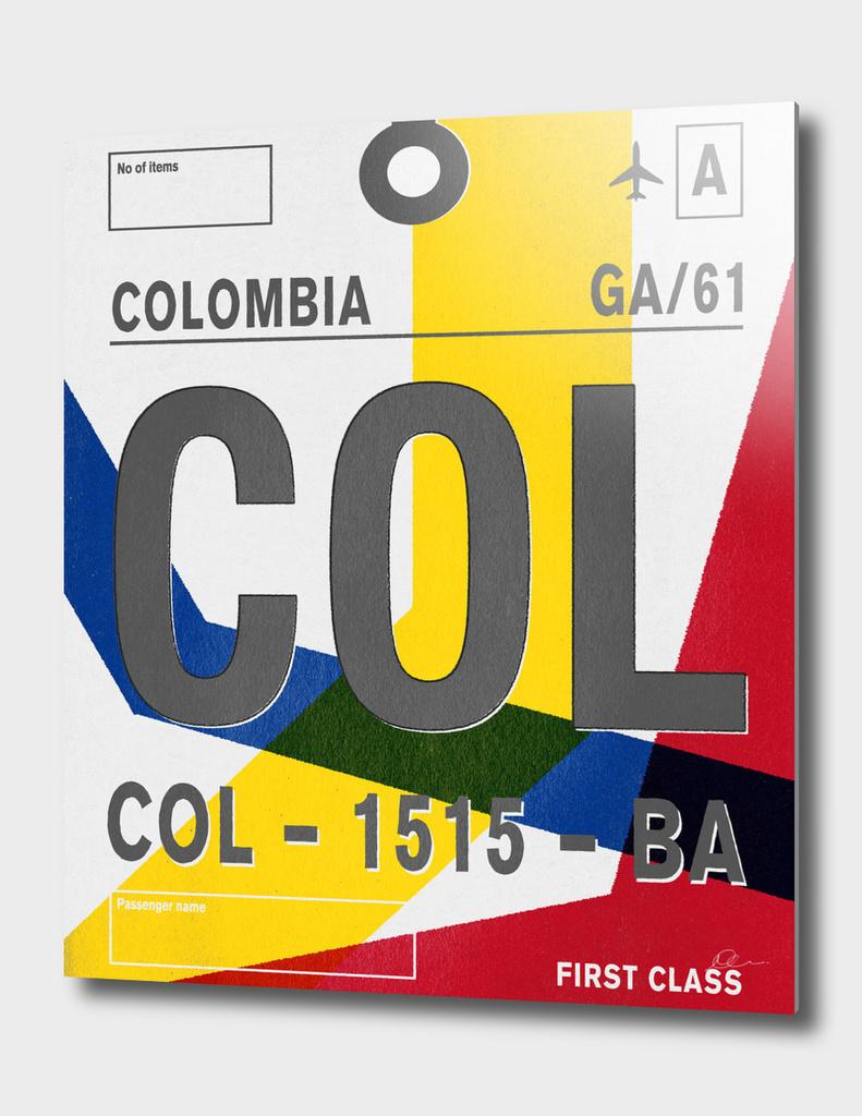 Columbia Vintage Luggage Tag Print