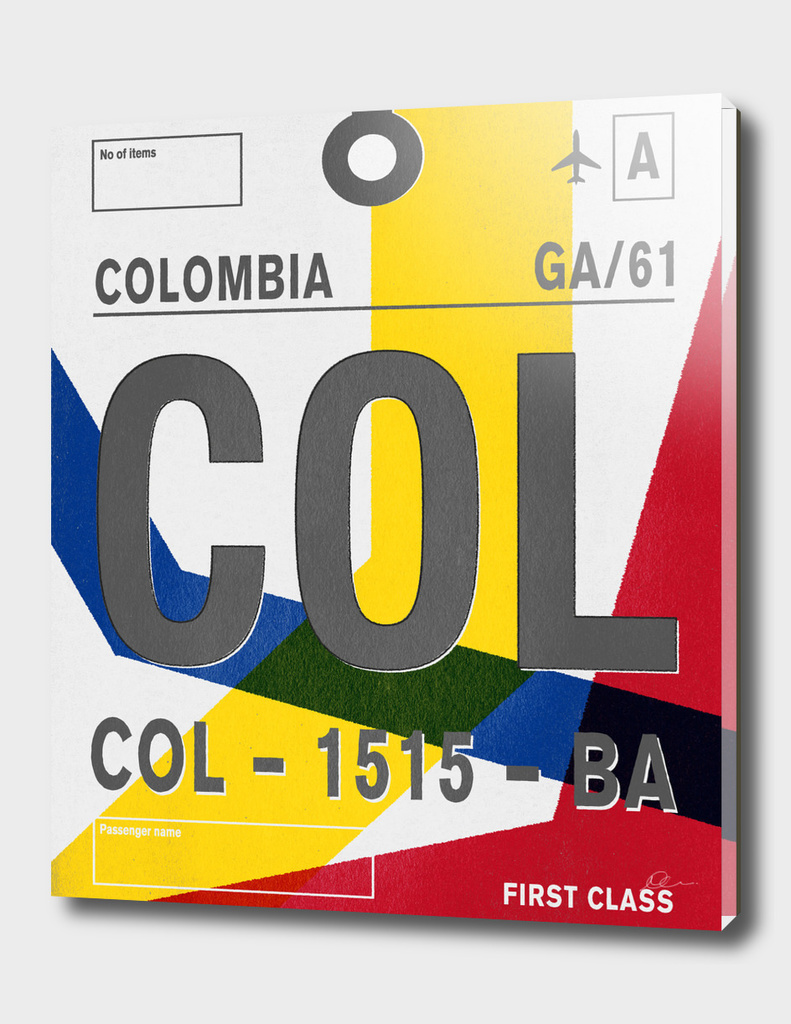 Columbia Vintage Luggage Tag Print