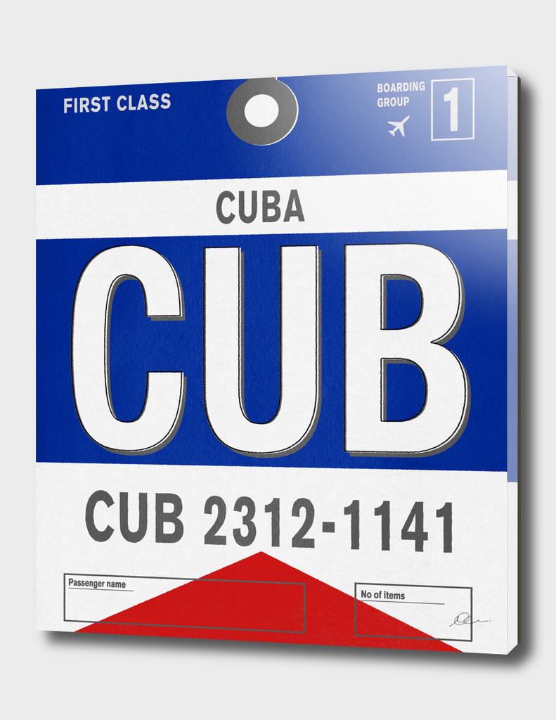 Cuba Vintage Luggage Tag Print