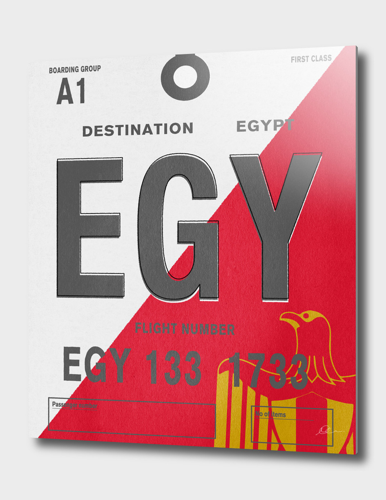 Egypt Vintage Luggage Tag Print