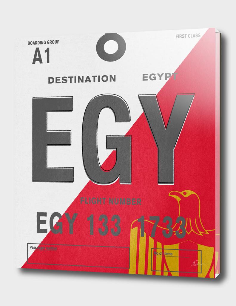 Egypt Vintage Luggage Tag Print