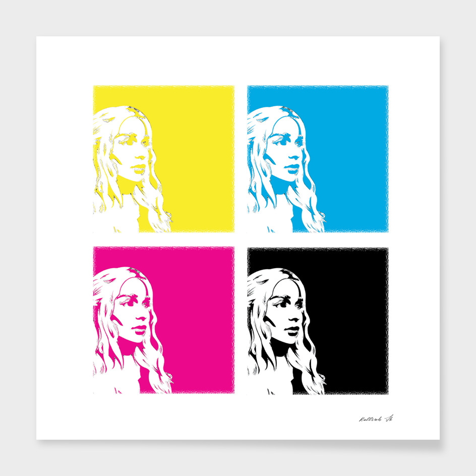 Daenerys Targaryen (khaleesi) in colors.