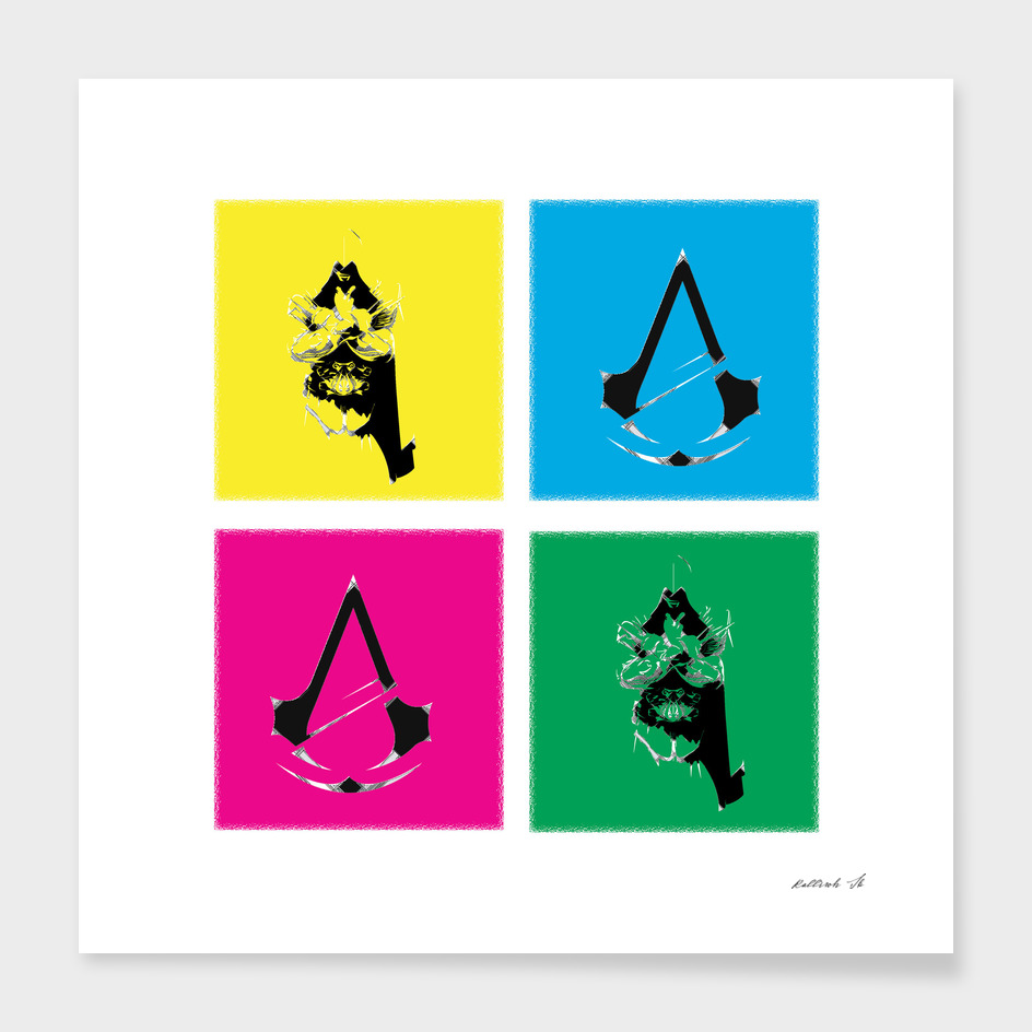 Assassin's creed in colors.