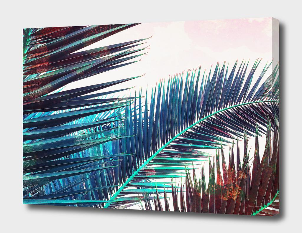 Vintage Palm Leaves - Blue