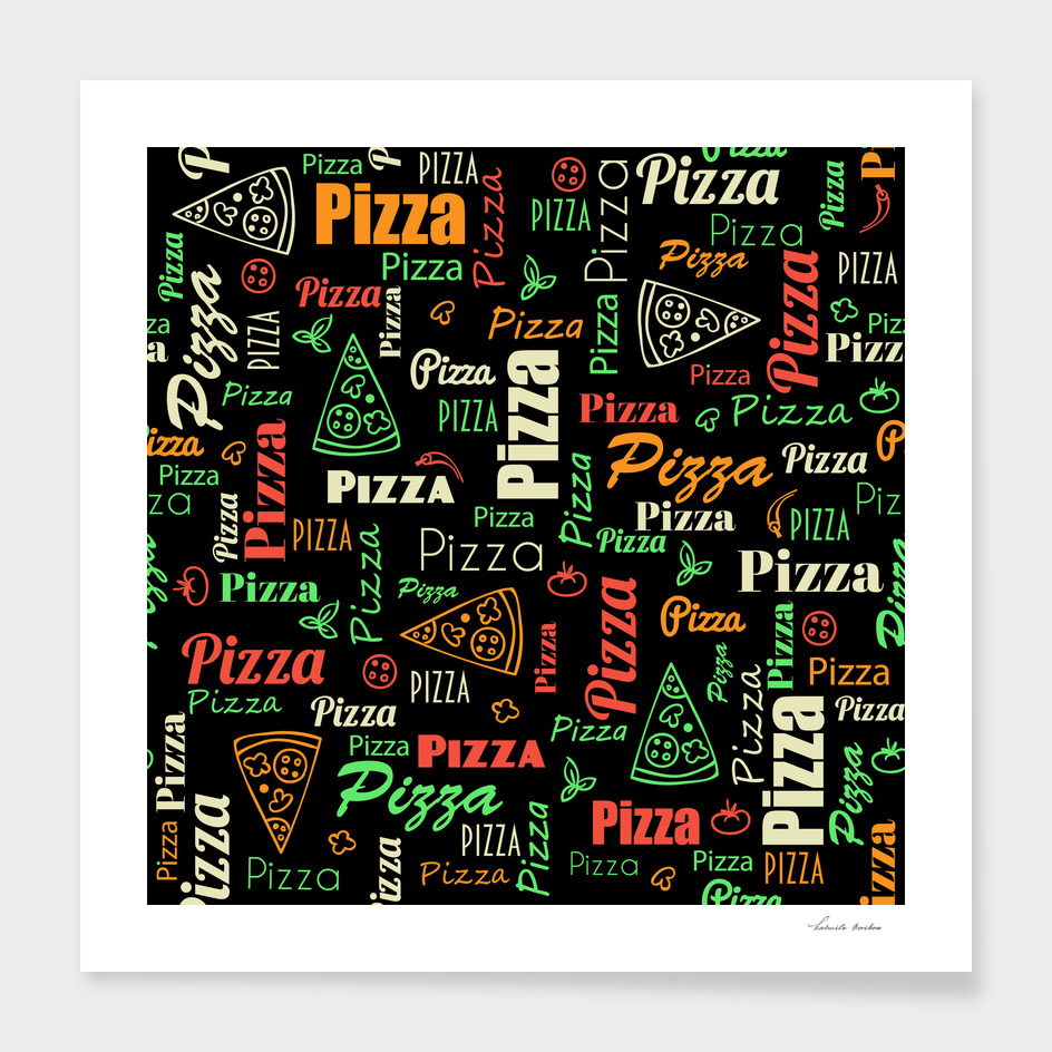 Pizza modern pattern