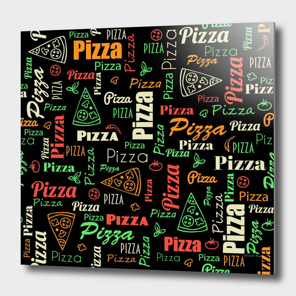 Pizza modern pattern