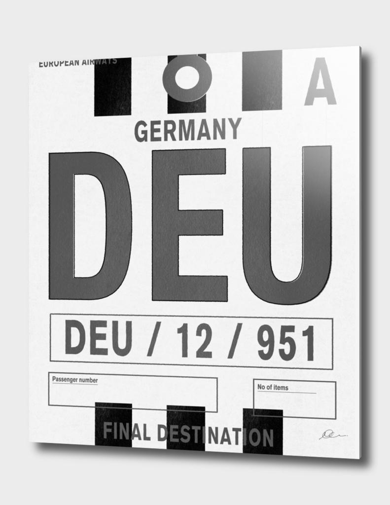 Germany Vintage Luggage Tag Print