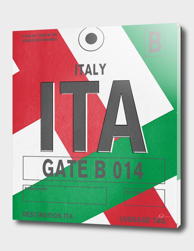 Italy Vintage Luggage Tag Print