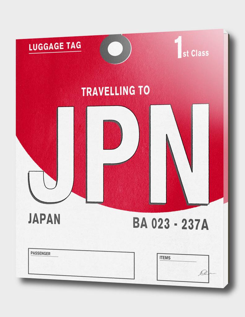 Japan Vintage Luggage Tag Print