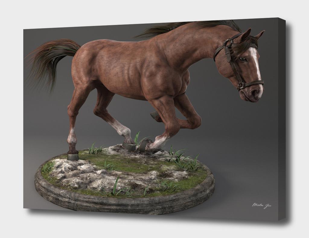 Horse statue 3D