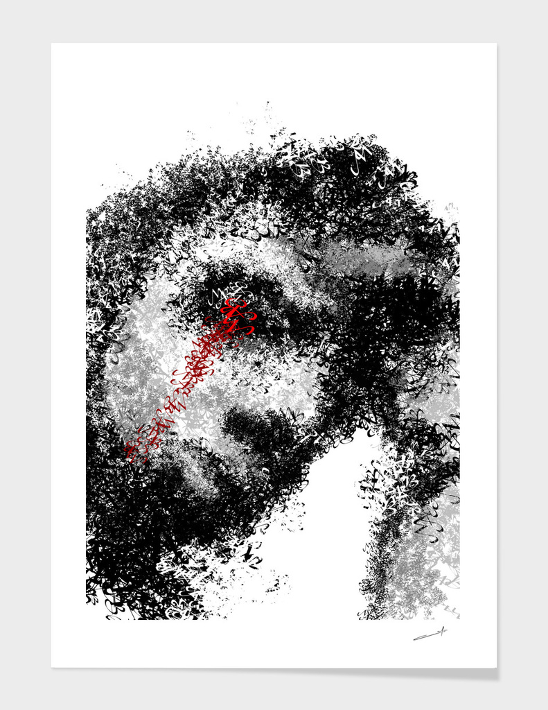 Textportrait Calligram
