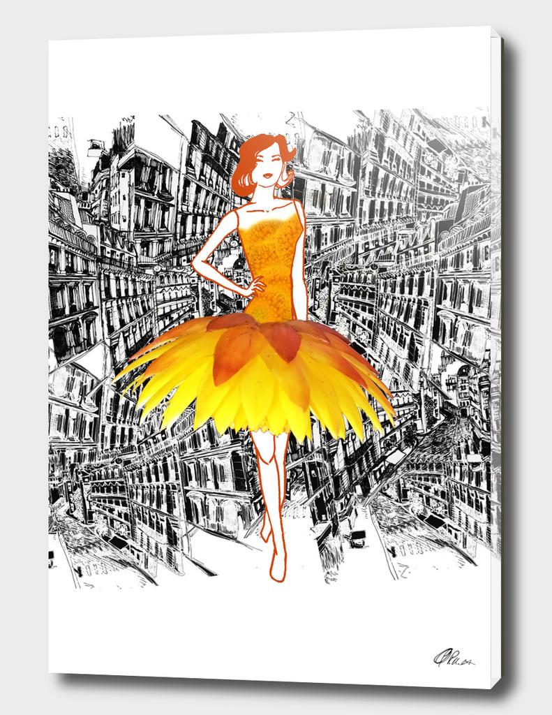 Everlasting Daisy fashion illustration