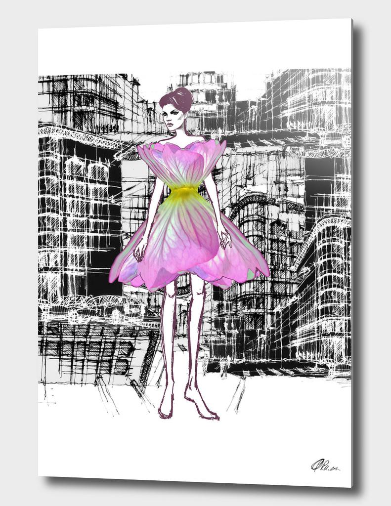 Nature Inspired Fashion Illustration.