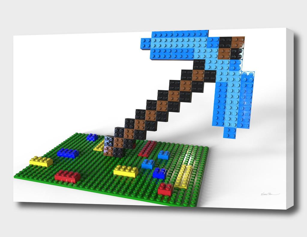 Lego Minecraft Pickaxe