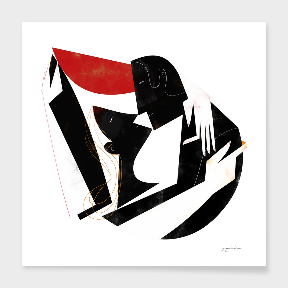 The Kiss II in Black and Red