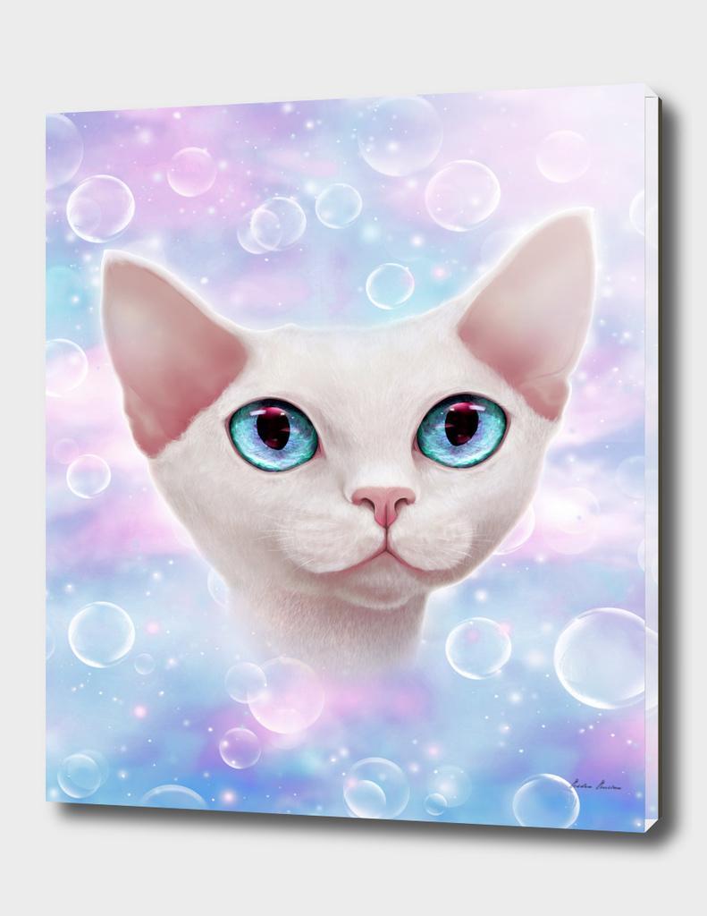 Unicorn bubble kitty